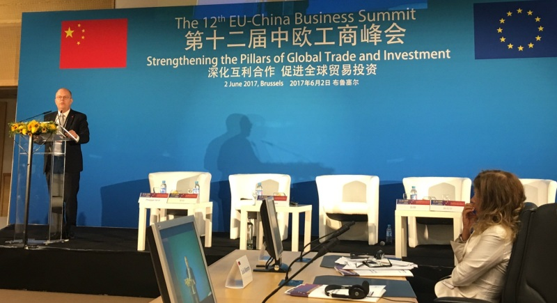 Chamber President Mats Harborn Speaks at 12th EU-China Business Summit